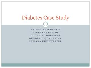 Diabetes Case Study
