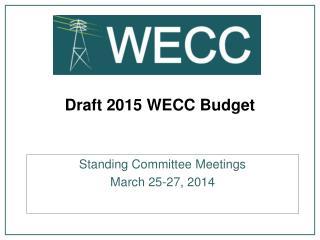 Draft 2015 WECC Budget