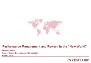 Performance Management and Reward in the  New World