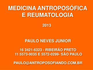 MEDICINA ANTROPOSÓFICA  E REUMATOLOGIA