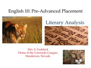 English 10: Pre-Advanced Placement