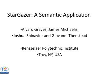StarGazer : A Semantic Application