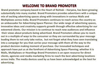 WELCOME TO BRAND PROMOTER