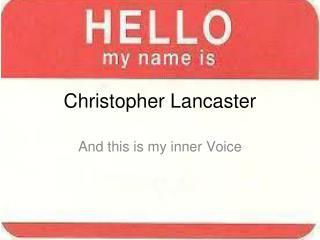 Christopher Lancaster