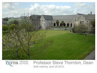 Professor Steve Thornton, Dean