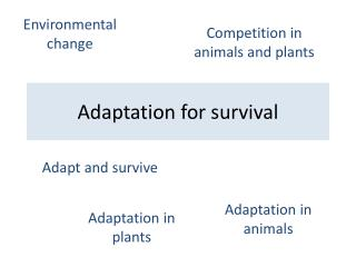 Adaptation for survival