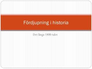 Fördjupning i historia