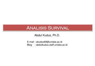 Analisis  Survival