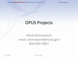 OPUS Projects