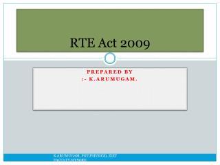 RTE Act 2009