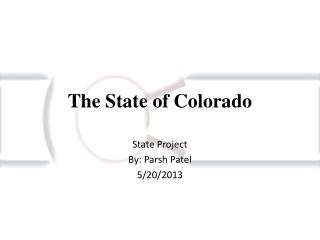 The State of Colorado