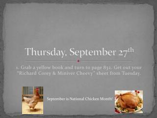 Thursday, September 27 th