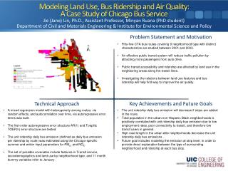 Modeling Land Use, Bus Ridership and Air Quality:  A Case Study of Chicago Bus Service