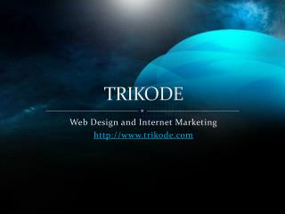 Web Site Designing Services From Trikode