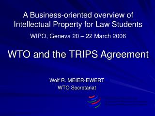 WTO - FACT FILE
