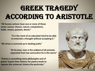 Greek Tragedy according to Aristotle