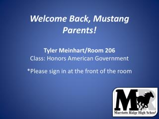 Welcome Back, Mustang Parents!