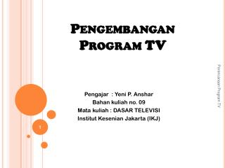 Pengembangan Program TV
