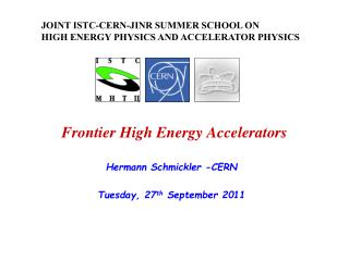 Frontier High Energy Accelerators