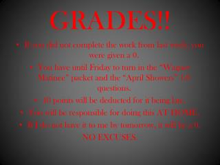 GRADES!!
