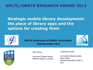 ANLTC/SWETS RESEARCH AWARD 2012
