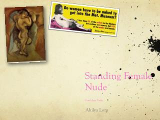 Standing Female Nude Carol Ann Duffy