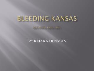 BLEEDING KANSAS  between 1854-1861