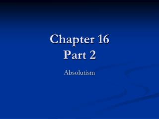 Chapter 16 Part 2