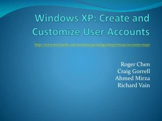 Windows XP: Create and Customize User Accounts