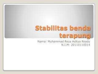 Stabilitas benda terapung