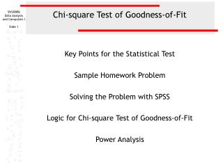 Chi-square Test of Goodness-of-Fit