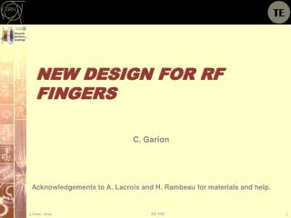 New design for RF fingers