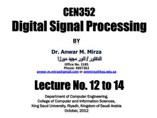 CEN352 Digital Signal Processing