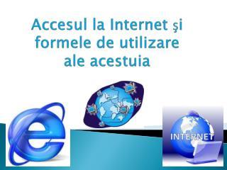 Accesul  la Internet  ş i formele  de  utilizare  ale  acestuia