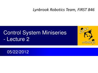 Control System  Miniseries - Lecture 2