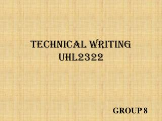 TECHNICAL WRITING UHL2322