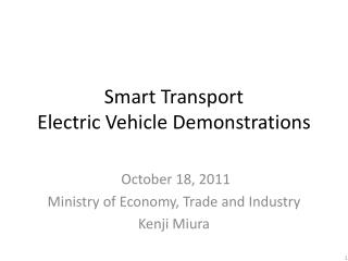 Smart Transport  Electric Vehicle Demonstrations
