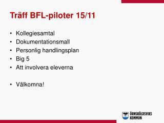Träff BFL-piloter 15/11