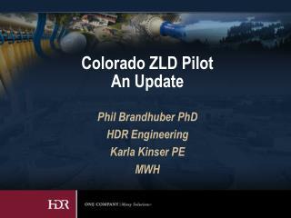 Colorado ZLD Pilot  An Update