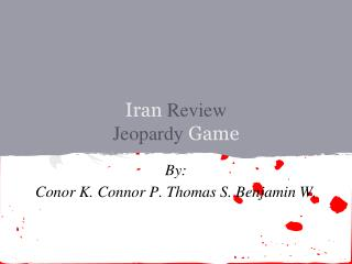 Iran  Review Jeopardy  Game