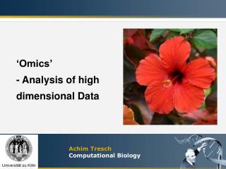Achim Tresch Computational Biology