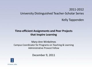 2011-2012  University Distinguished Teacher-Scholar Series Kelly  Tappenden
