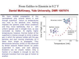 From Galileo to Einstein in 0.2 ̊ F Daniel McKinsey, Yale University, DMR 1007974