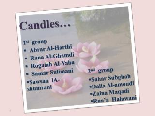 Candles…