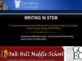 Writing in STEM