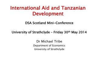 International Aid and Tanzanian Development