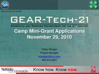 Camp Mini-Grant Applications November 29, 2010