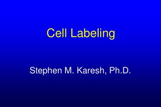 Cell Labeling