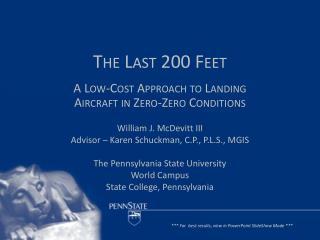 The Last 200 Feet
