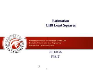 Estimation CH8 Least  Squares